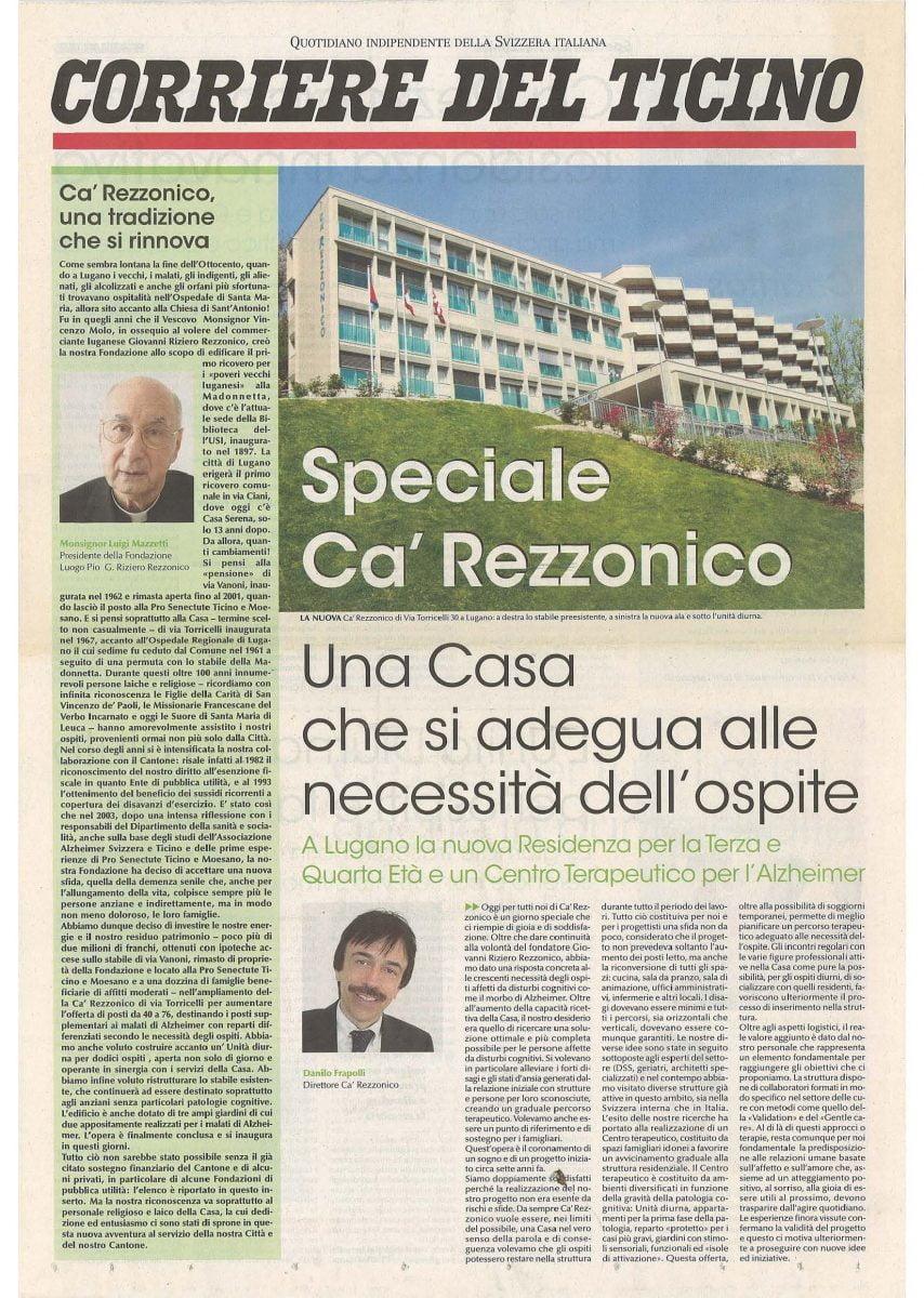 Corriere del Ticino speciale del 05.2010