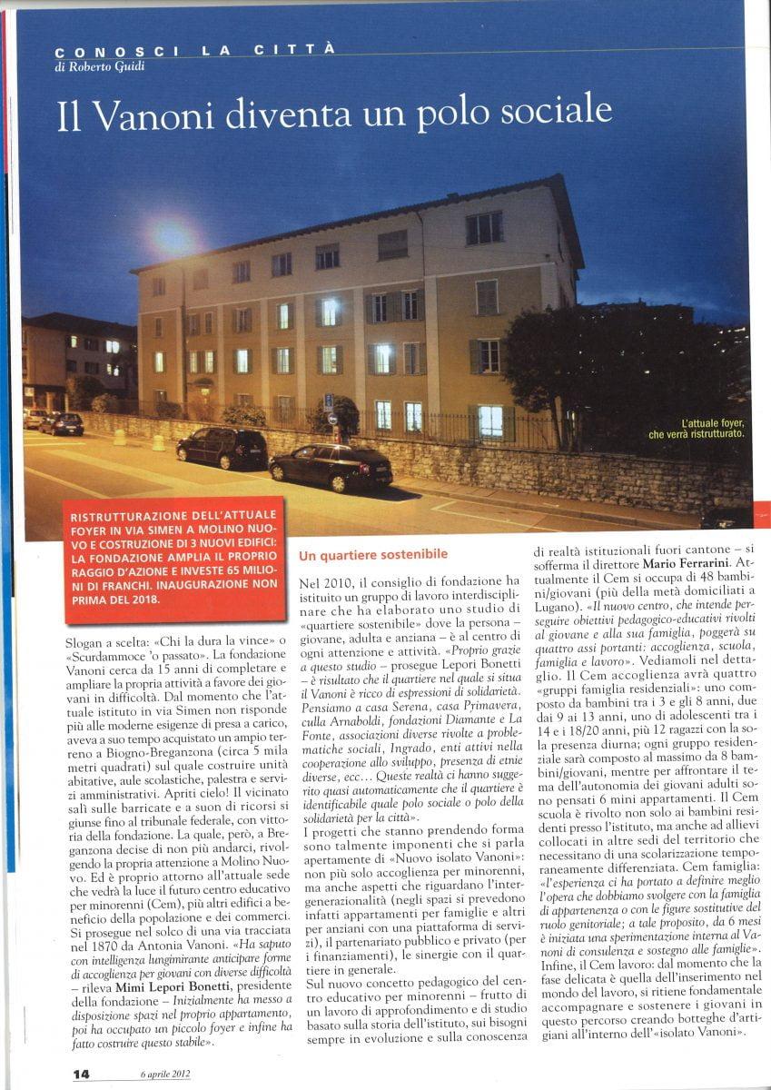 Rivista di Lugano del 06.04.2012