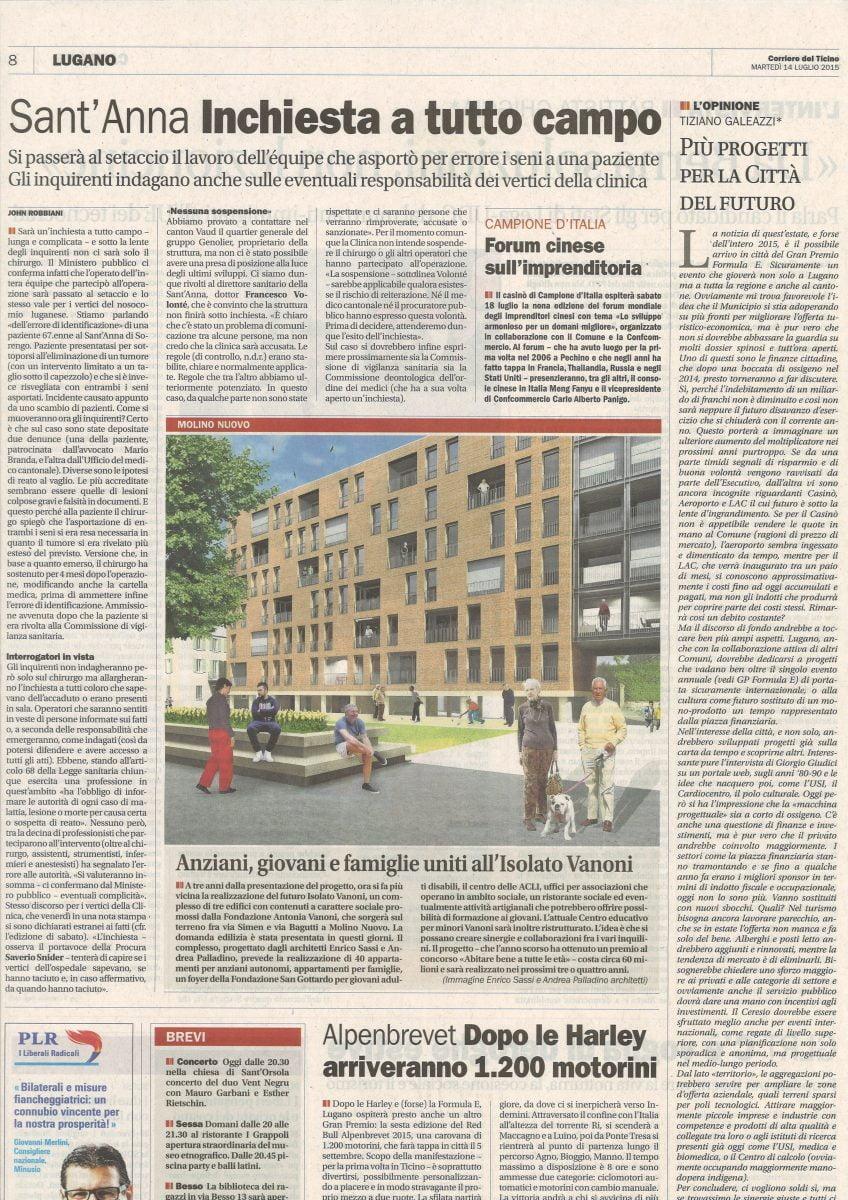 Corriere del Ticino del 14.07.2015