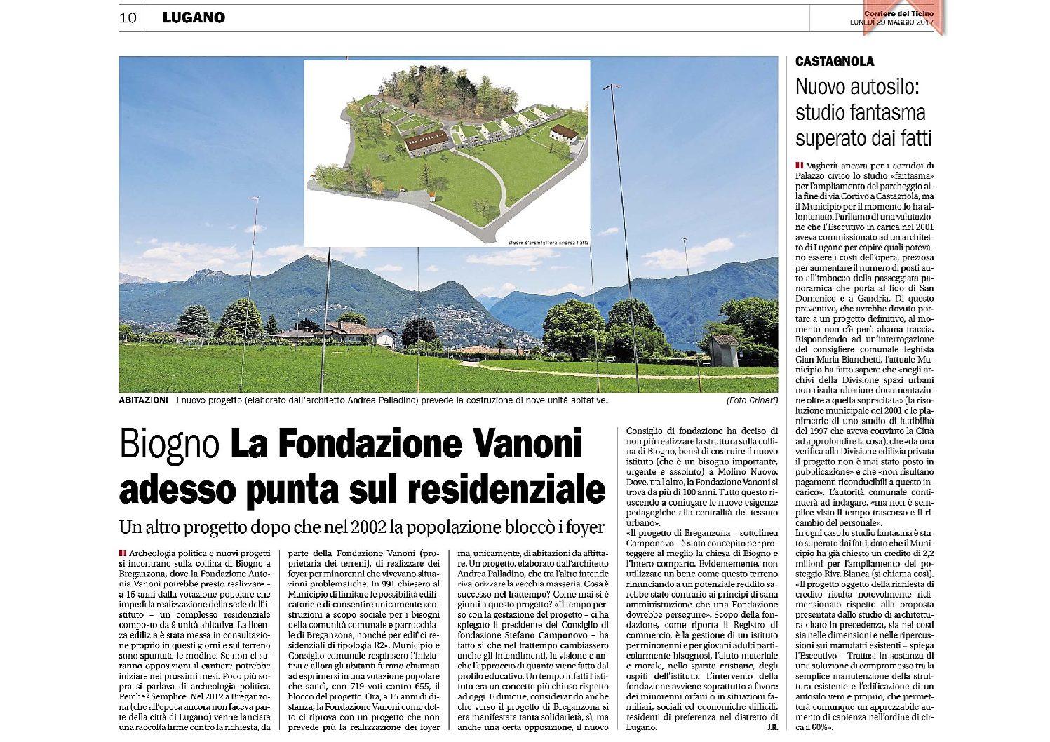 Corriere del Ticino del 29.05.2017