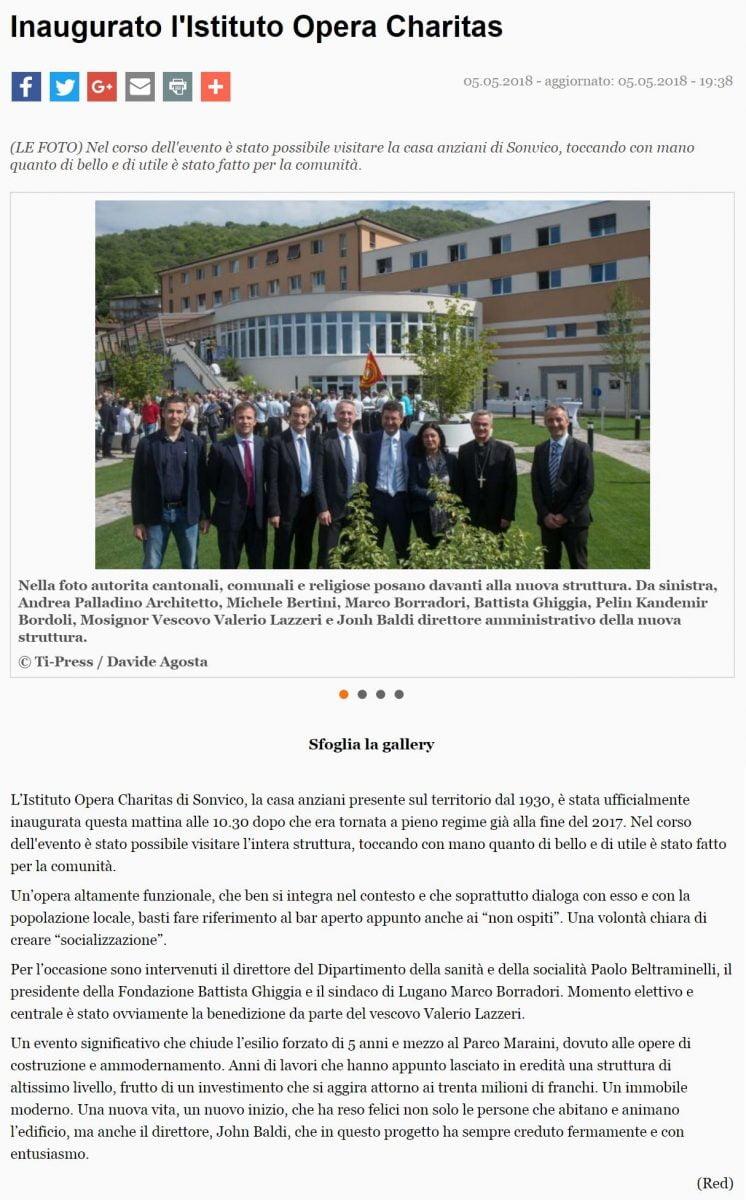 Giornale del Popolo on-line del 05.05.2018